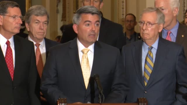 Colorado Senator Cory Gardner tells reporters days after Secretary of State Mike Pompeo testified before the Foreign Relations Committee that North...