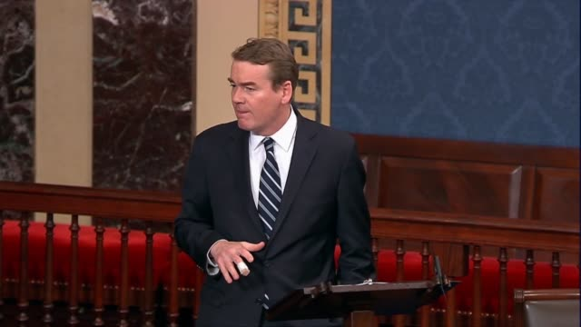 colorado senator michael bennet says on the 18th day of a partial government shutdown that rocky mountain national park was closed, asking why those... - politics and government stock videos & royalty-free footage