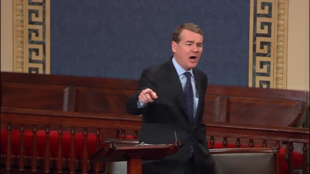 stockvideo's en b-roll-footage met colorado senator michael bennet says that it is dangerous for the president of the united states to call journalists crooks and to say that true... - procureur generaal
