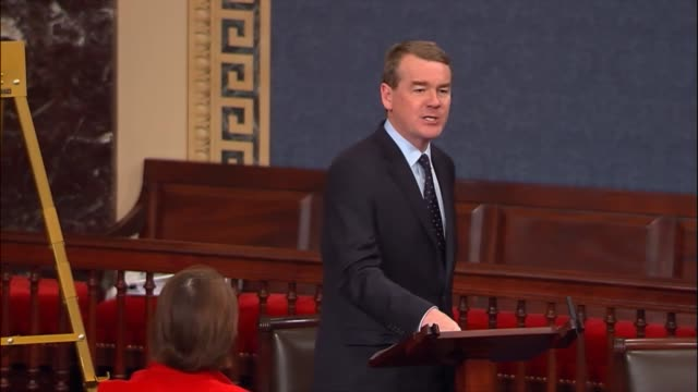 colorado senator mike bennet argues in debate on the tax cuts and jobs act that george bush inherited a surplus but republicans then passed another... - cut video transition stock videos & royalty-free footage