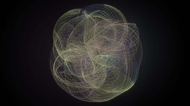 colored abstract splines rotating around each other. - other stock videos and b-roll footage