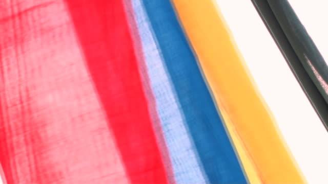 Farbiger Stoff Dekorative Streifen perfekt in the wind