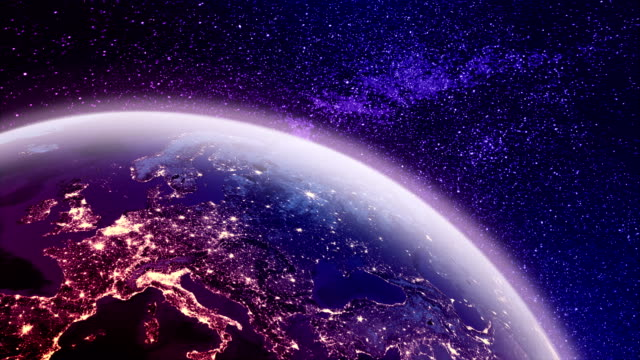 4k colored earth and europe animation - gulf coast states stock videos & royalty-free footage