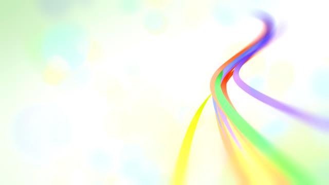 vídeos de stock, filmes e b-roll de explosão de cores - curva forma