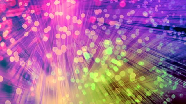 vidéos et rushes de fibres optiques de couleur - fibre optique