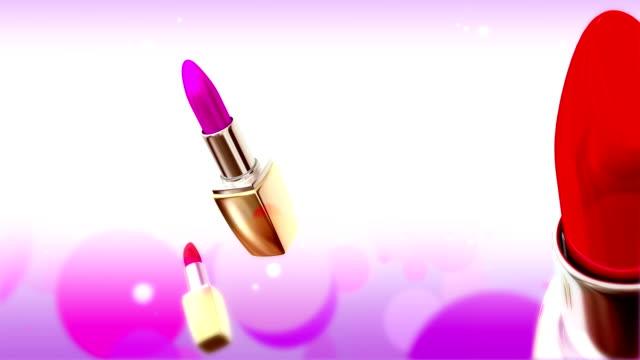 vídeos de stock, filmes e b-roll de glamour lipsticks cor - boca humana