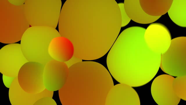 colored glowing balls on black background. digital animation 3d rendering - contrasts stock videos and b-roll footage