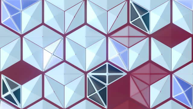 colored hexagonal seamless loop animation background. 3d rendering geometric art. hd resolution - mosaic stock videos & royalty-free footage
