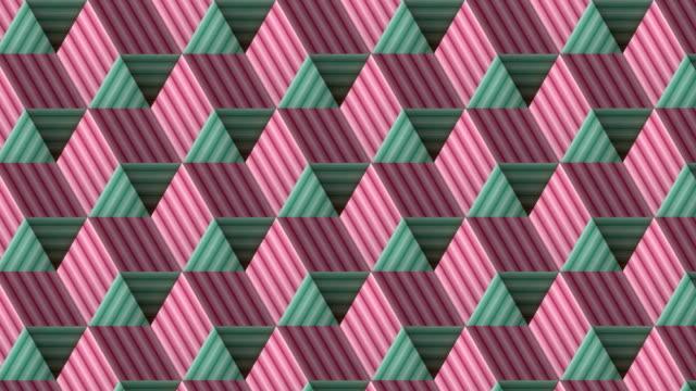 vídeos de stock e filmes b-roll de colored lines pattern background. f3d rendering seamless loop animation. 4k, ultra hd resolution - design plano