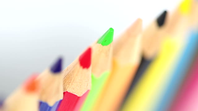 colored pencils - colored pencil stock videos and b-roll footage