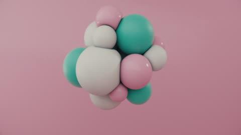 vídeos y material grabado en eventos de stock de esferas de colores flotando en movimiento - arte