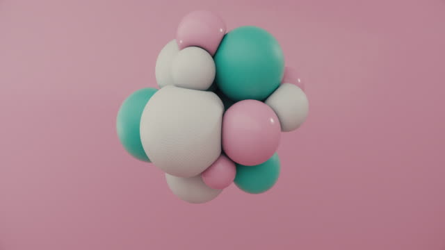 colored spheres floating in motion - chemistry stock videos & royalty-free footage