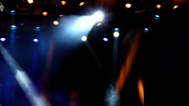 colored spotlights on the stage. - rocking stock videos & royalty-free footage