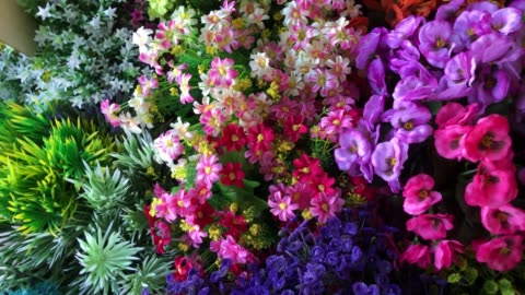 colorful abstract background of flowers - flower head stock videos & royalty-free footage