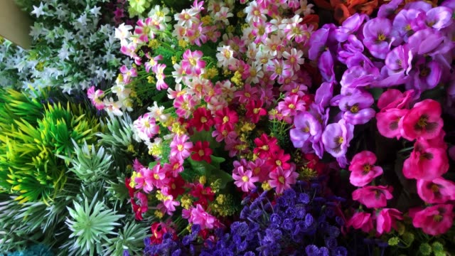 colorful abstract background of flowers - multi coloured stock videos & royalty-free footage