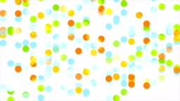 Colorful abstract circles video animation