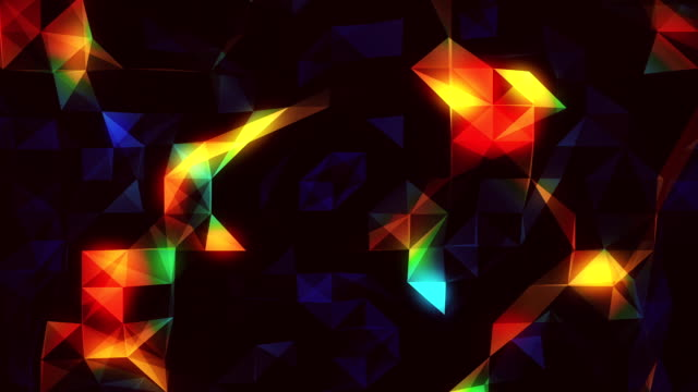 Colorful abstract loopable  background footage with triangles