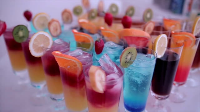 colorful and delicious cocktails - pub stock videos & royalty-free footage