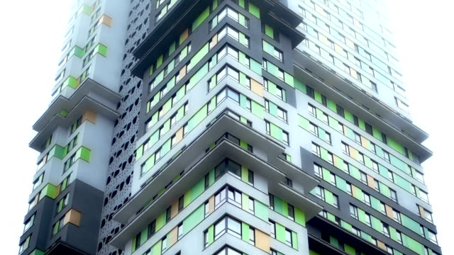 colorful apartments - multi coloured stock videos & royalty-free footage