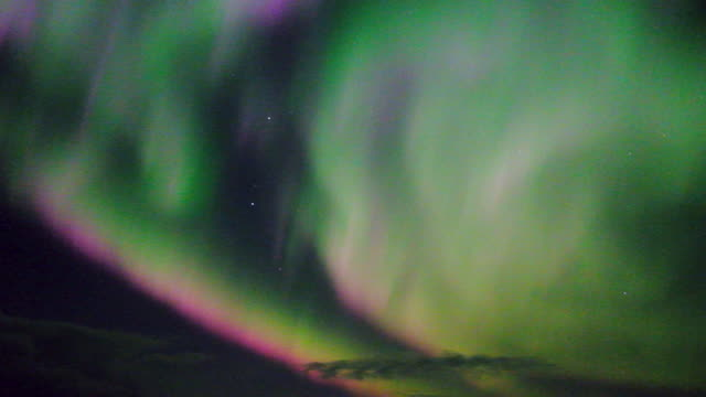 colorful aurora borealis - north stock videos and b-roll footage