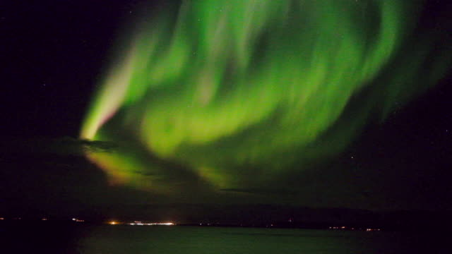 colorful aurora borealis - north stock videos & royalty-free footage