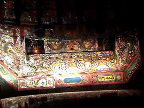 colorful back of truck as seen from car, federally administered tribal areas, pakistan, audio - pakistan stock videos & royalty-free footage
