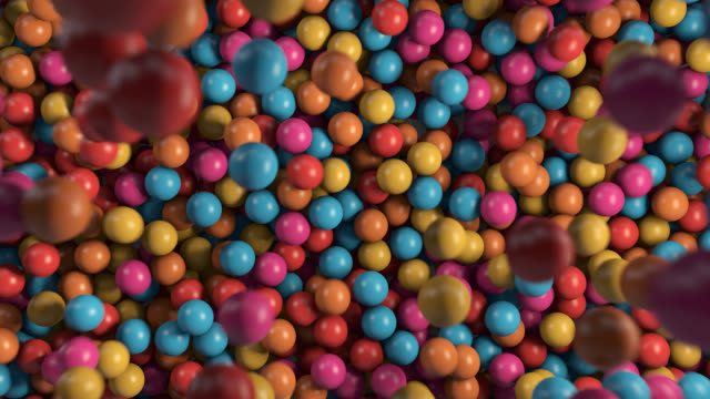 vídeos de stock e filmes b-roll de colorful ball pool - ball