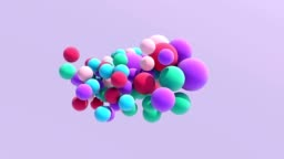 Colorful balloon floating in motion