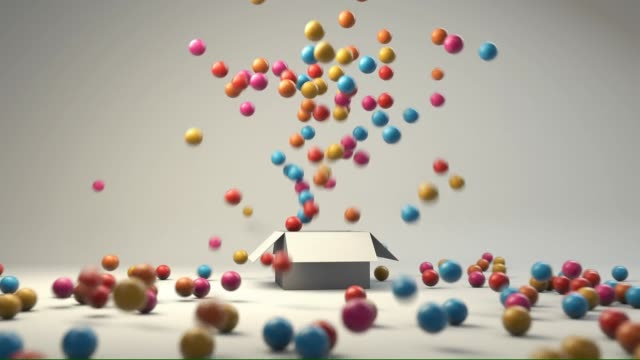 colorful balls in a box - bouncing stock videos & royalty-free footage