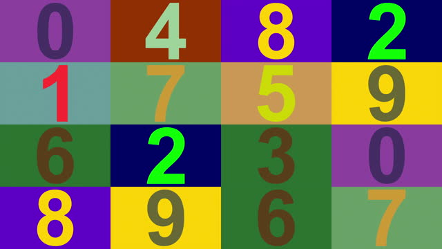 colorful blinking counter number array - number 9 stock videos & royalty-free footage