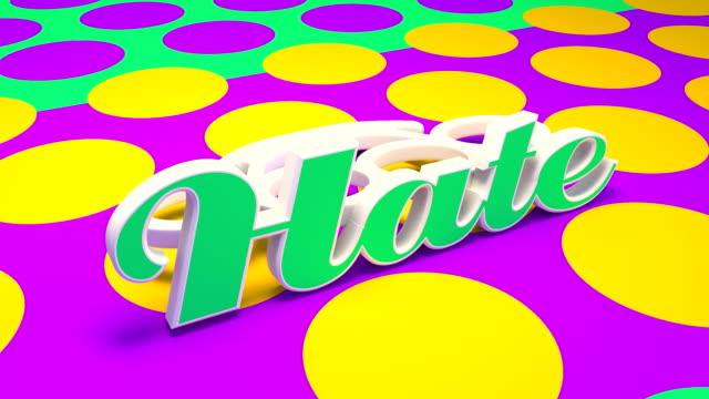 vídeos de stock e filmes b-roll de colorful brass knuckle of hate - vingança