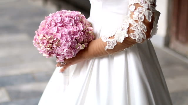 colorful bridal bouquet - sleeve stock videos & royalty-free footage
