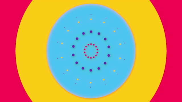 Colorful bright abstract circle screen loader or Loopless motion design for intro or translation. 4k resolution animation.