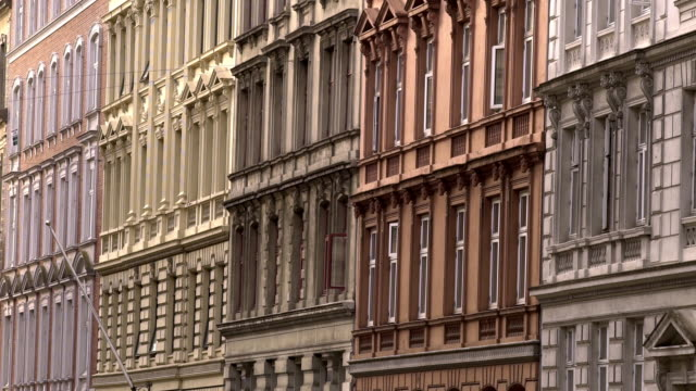 colorful brownstones in copenhagen - repetition stock videos and b-roll footage