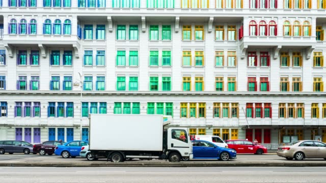 colorful buildings - singapore stock videos & royalty-free footage