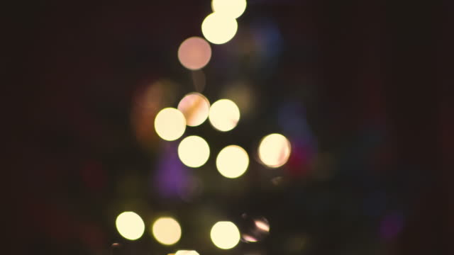 colorful christmas tree lights out of focus - bright stock videos & royalty-free footage