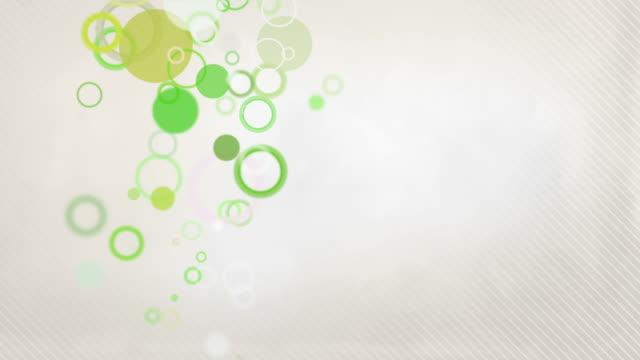 vídeos de stock, filmes e b-roll de fundo com círculos coloridos loop tons de verde (full hd - full hd format