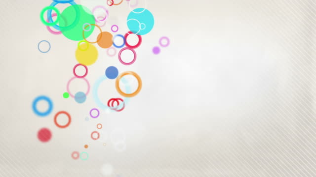 Colorful Circles Background Loop - Pastel Rainbow (Full HD)