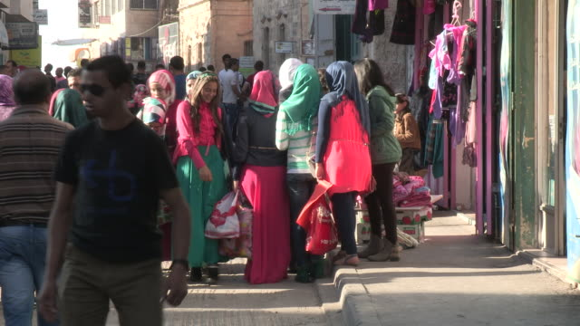 colorful clothes, bethlehem, palestine - palestinian territories stock videos and b-roll footage