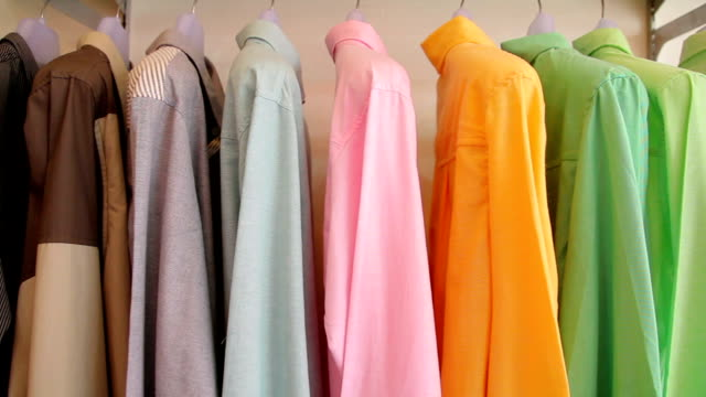 Colorful Clothes on a coat rack