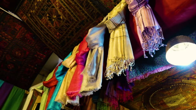 colorful cloths in afghanistan - scarf stock videos & royalty-free footage