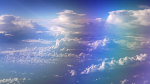 colorful cloud sky view taken from airplane window view while flying - refraction stock videos & royalty-free footage