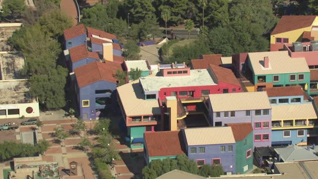 WS AERIAL ZO Colorful condos / Tucson, Arizona, United States
