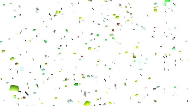 4k colorful confetti. lopable. - streamer stock videos & royalty-free footage