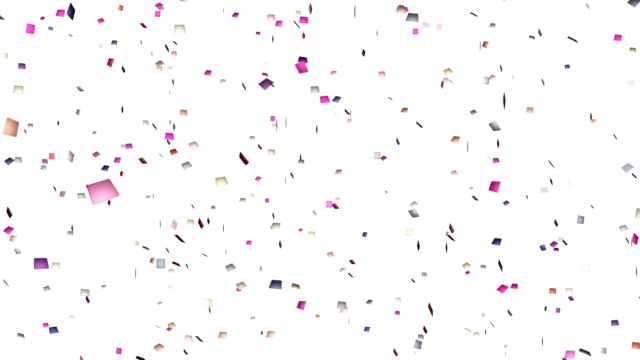 4k 4k colorful confetti. - streamer stock videos & royalty-free footage