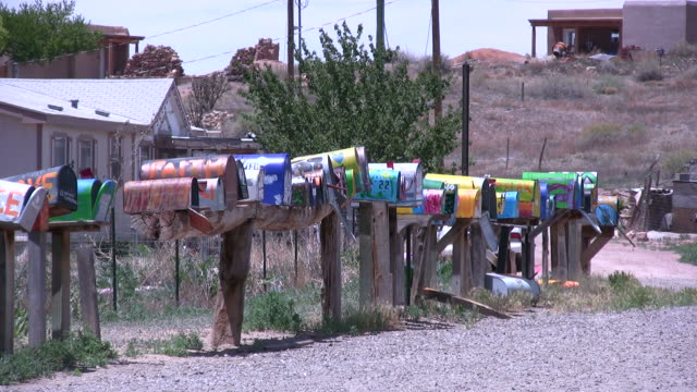 (hd1080i) colorful country mailboxes - mailbox stock videos and b-roll footage