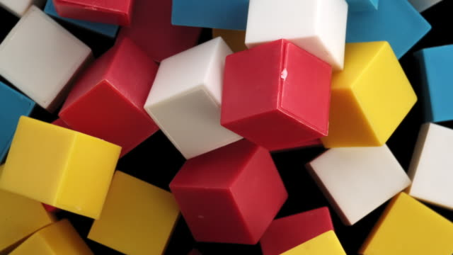 colorful cubes in the air - group of objects stock videos & royalty-free footage