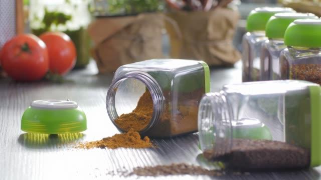 五顏六色的美食, 香料, 草藥 - parsley 個影片檔及 b 捲影像