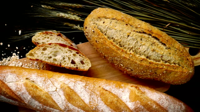 colorful cuisine - loaf of bread stock videos & royalty-free footage