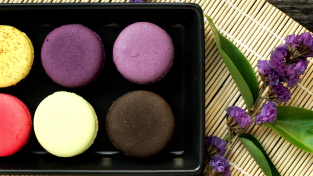 colorful cuisine - macaroon stock videos and b-roll footage